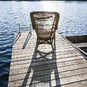 Rocking Chair On Dock Art Print