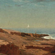 Rocks At Narragansett Art Print