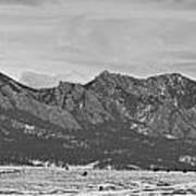 Rocky Mountains Flatirons And Longs Peak Panorama Boulder Art Print