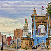 Roebling Bridge 9872 Art Print