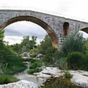 Roman Arch Bridge Pont St. Julien Art Print