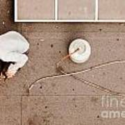 Roofer Using Propane Torch To Repair Flat Roof Art Print