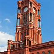 Rotes Rathaus The Town Hall Of Berlin Germany Art Print