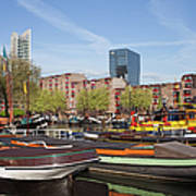 Rotterdam Cityscape In Netherlands Art Print