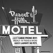 Route 66 - Desert Hills Motel Art Print