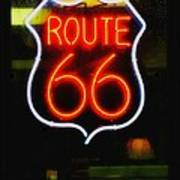 Route 66 Edited Art Print