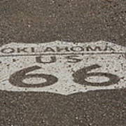 Route 66 - Oklahoma Shield Art Print