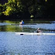 Rowing In Philadelphia Art Print by Bill Cannon