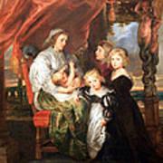 Rubens' Deborah Kip -- Wife Of Sir Balthasar Gerbier -- And Her Children Art Print