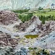 Ruins At Basgo Monastery Ladakh India Art Print