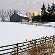 Rural Winter Landscape Art Print by Elena Elisseeva