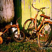 Rusty Bikes Art Print