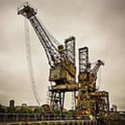 Rusty Cranes At Battersea Power Station Art Print