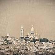 Sacre Coeur Basilica Of Montmartre In Paris Art Print