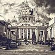 Saint Peters Basilica Rome Art Print