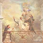 Saints Dominic Benedict And Francis Of Assisi 2 Art Print