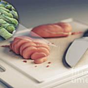 Salmonella Contamination Art Print