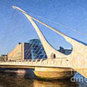 Samuel Beckett Bridge Dublin Art Print