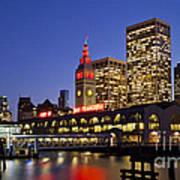 San Francisco Ferry Terminal - California, Usa Art Print