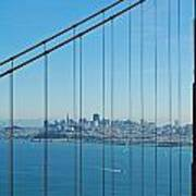 San Francisco Through Golden Gate Bridge Art Print by Twenty Two North Photography