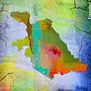 San Jose Map And Skyline Art Print