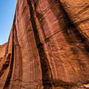 Sandstone Varnish Cliff - Coyote Gulch - Utah Art Print