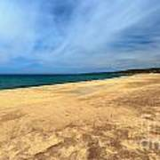 sandy beach in Piscinas Art Print