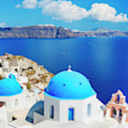 Santorini Island, Greece, Beautiful Art Print
