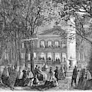 Saratoga Springs, 1865 Art Print