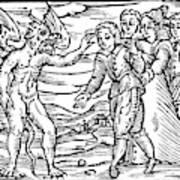 Satan & Sorcerer, 1626 Art Print