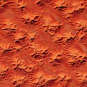 Satellite View Of Murzuk Desert, Libya Art Print