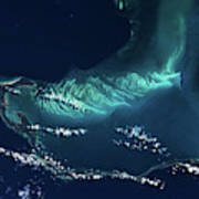 Satellite View Of Turks And Caicos Art Print