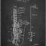 1928 Gifts For Saxophone Players Waters Patent Drawing Print Wall Art Sax
