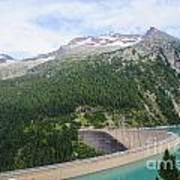 Schlegeis Dam And Reservoir  Art Print