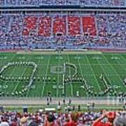 27w115 Script Ohio In Osu Stadium Art Print
