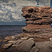 Sea Stack At North Cape On Prince Edward Island Art Print
