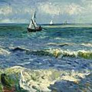 Seascape Near Les Saintes-maries-de-la-mer Art Print