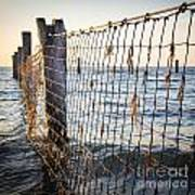 Seaside Nets Art Print