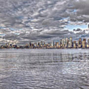 Seattle Cityscape In Clouds Art Print