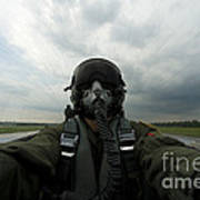Self-portrait Of An Aerial Combat Art Print