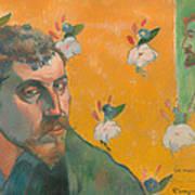 Self Portrait With Portrait Of Bernard Art Print