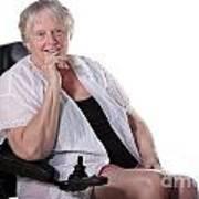Senior Woman In Wheel Chair Art Print