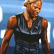 Serena Williams Art Print by Paul Meijering