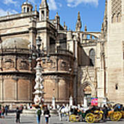 Seville Cathedral In The Old Town Art Print