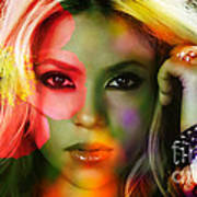 Shakira Art Print