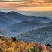 Shenandoah National Park Sunset Art Print