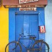 Shop On Street In Goa India Art Print