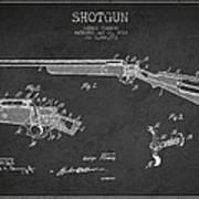 Shotgun Patent Drawing From 1918 Art Print