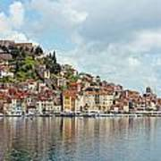 Sibenik Town On Adriatic Sea  Art Print