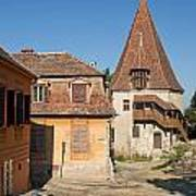 Sighisoara Transylvania Medieval Historic Town In Romania Europe Art Print